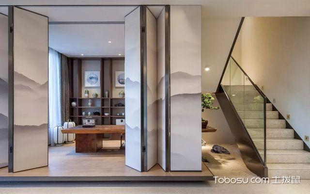 新中式风格二层别墅室内设计效果图