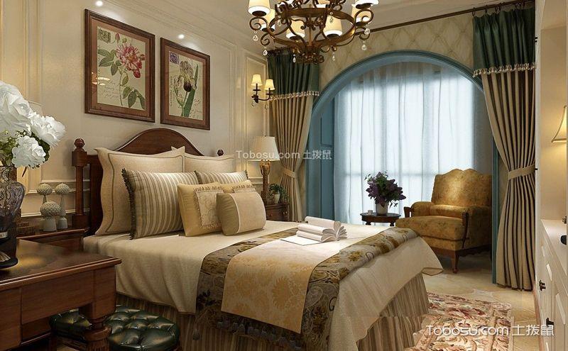美式地中海风格卧室装潢图,要浪漫更要舒适