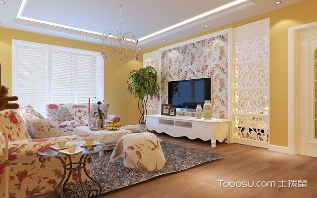 最流行小户型客厅墙面装修案例