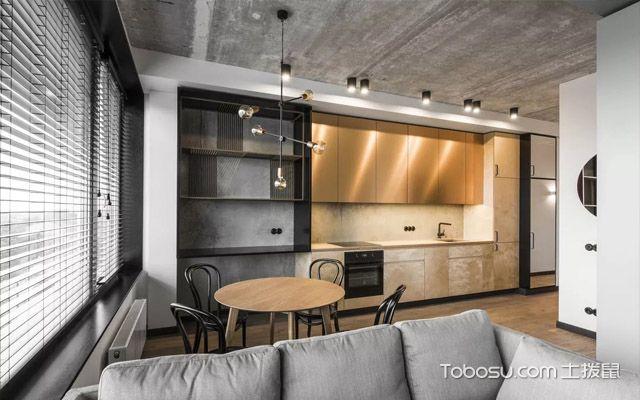 2018厨房餐厅一体化装修效果图