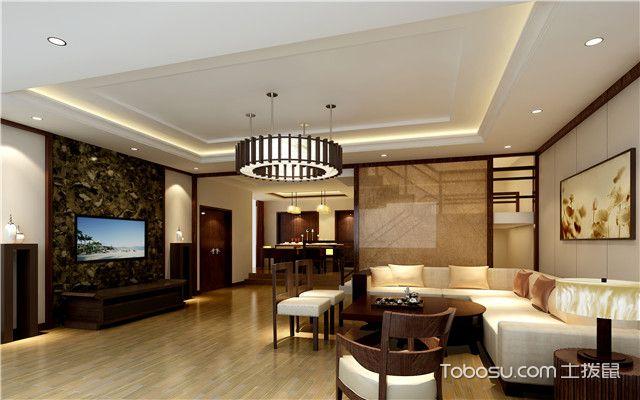 客厅拥有左右梁怎么装修之下隐穹隆式吊顶设计