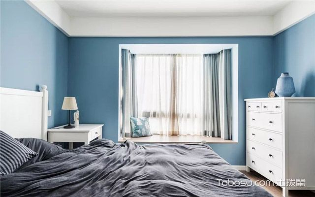 三居室现代美式装修案例效果图
