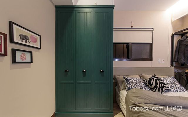 小户型卧室衣柜u乐娱乐平台优乐娱乐官网欢迎您之混搭卧室衣柜设计