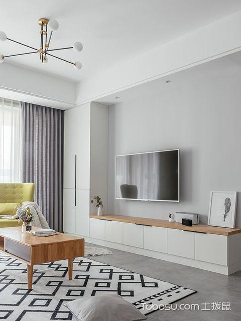 90平米两室两厅装修案例—电视墙