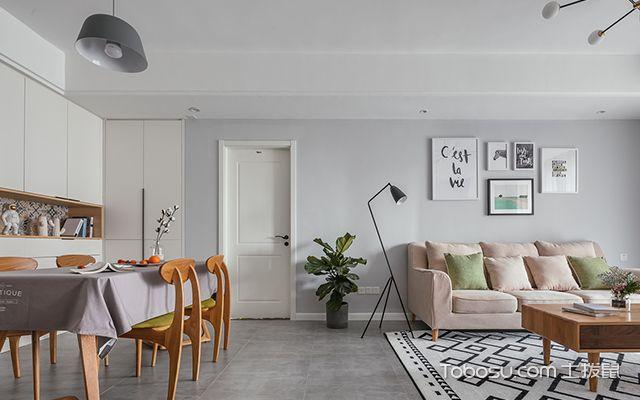 90平米两室两厅装修案例—餐厅