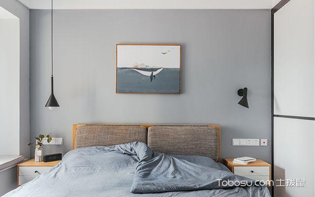 90平米两室两厅装修案例—主卧