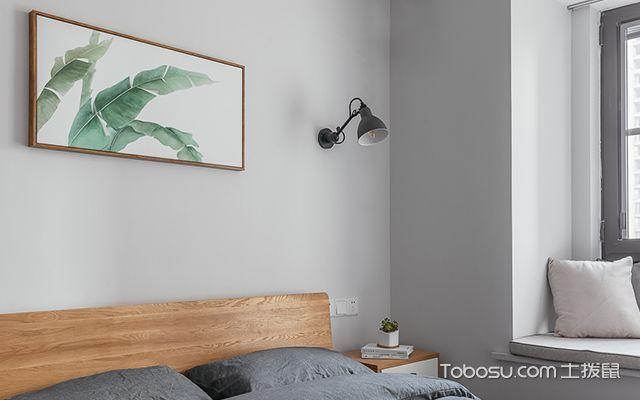 90平米两室两厅装修案例—次卧