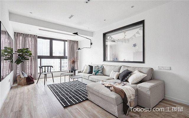 100平米北边欧干风家装案例之换个角度看客厅
