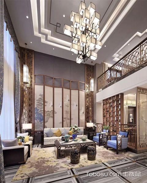 新中式别墅装修设计效果图赏析