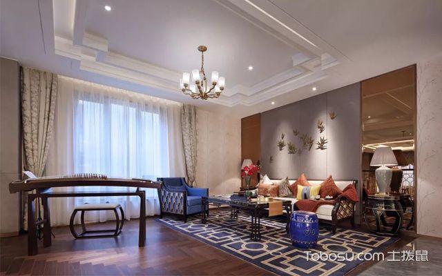 最新新中式别墅装修设计效果图介绍