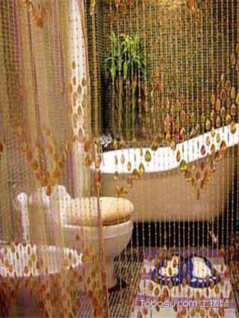卫生间风水门帘选择事项之门帘做装饰的数量