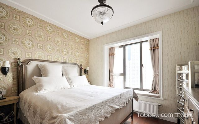 美式小户型卧室颜色搭配案例