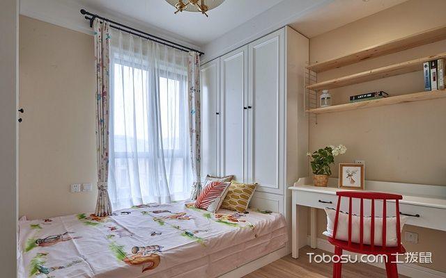 2018美式小户型卧室颜色搭配案例