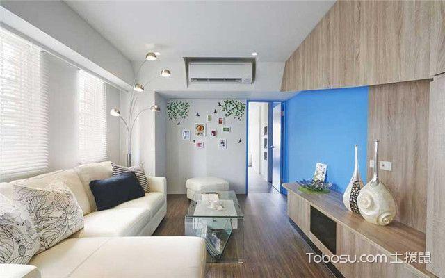 85平现代简约风家装案例之客厅
