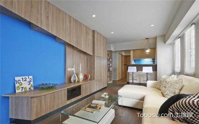 85平现代简约风家装案例之换个角度看客厅