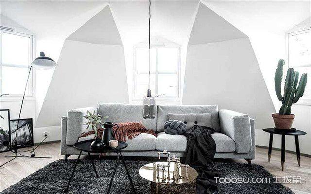90平北欧风公寓装修设计之客厅