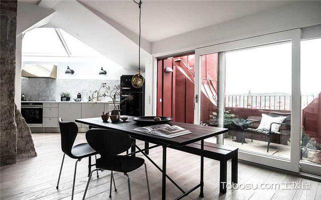90平北欧风公寓装修设计之餐厅设计