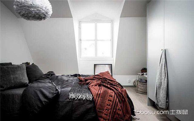 90平北欧风公寓装修设计之换个角度看卧室