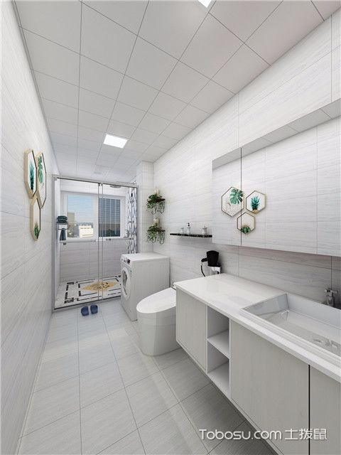 112平北欧风格三居室装修案例之卫生间
