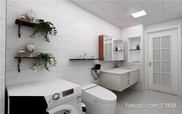 112平北欧风格三居室装修案例之换个角度看卫生间