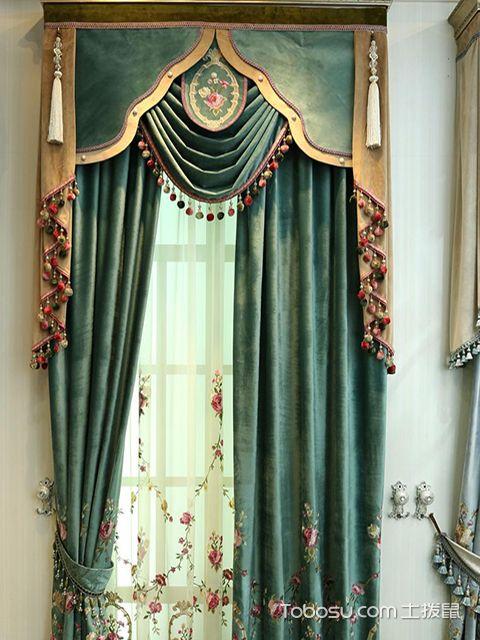 飘窗窗帘什么材质好之绒布材质窗帘