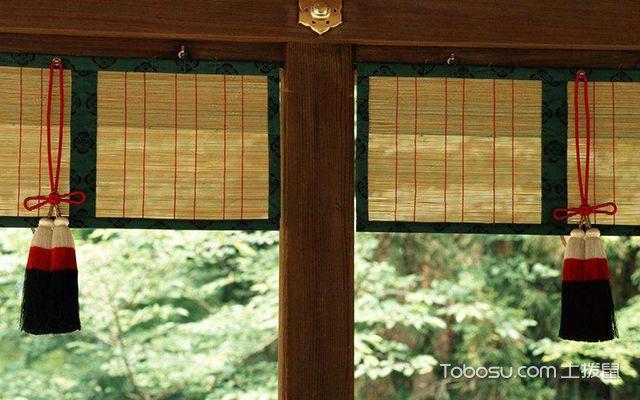 飘窗窗帘什么材质好之木织帘