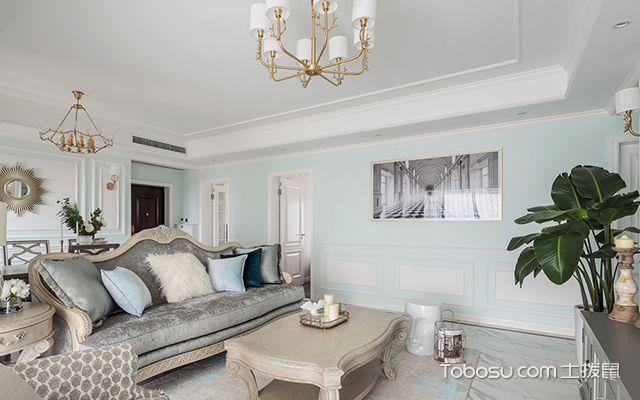 120平四室两厅装修案例—客厅设计