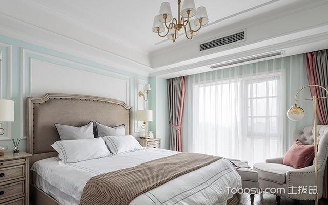120平四室两厅装修案例—主卧