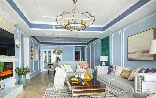 三室两厅美式风格家装设计