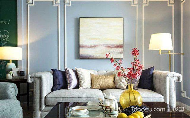 三室两厅美式风格家装设计之近看客厅