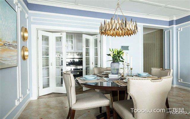 三室两厅美式风格家装设计之黄铜元素
