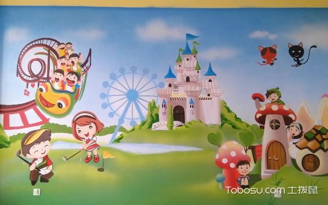 幼小男园顺手绘墙图片 干风