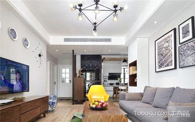 三室两厅北欧家装实景图之换个角度看客厅