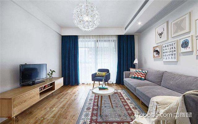 86平米北欧风格设计案例之客厅