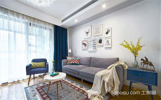 86平米北欧风格设计案例之换个角度看客厅