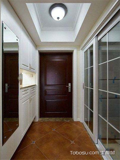 90平米现代美式风格装修设计之玄关