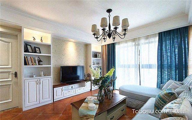 90平米现代美式风格装修设计之客厅