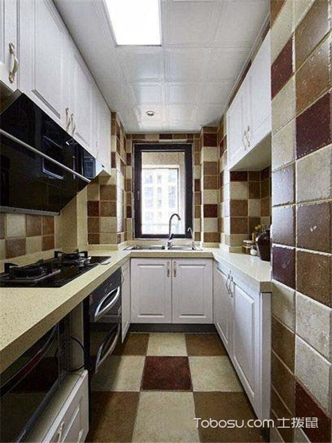 90平米现代美式风格装修设计之厨房