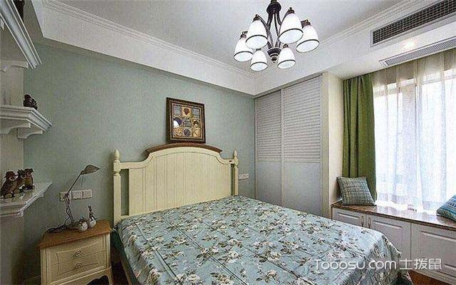 90平米现代美式风格装修设计之卧室