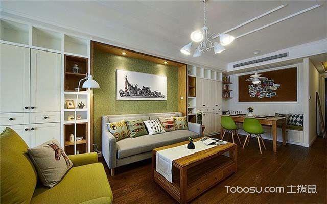 100平米美式风格案例图之客厅