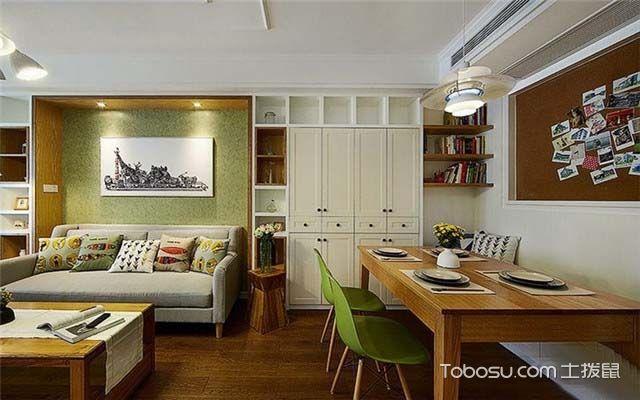 100平米美式风格案例图之餐厅