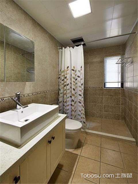 100平米美式风格案例图之卫生间
