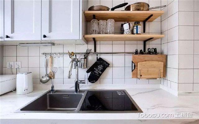 68平米宜家风格装修设计之近看厨房