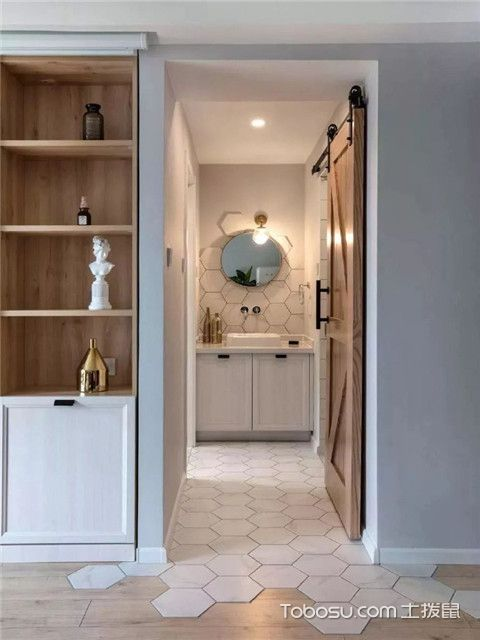 68平米宜家风格装修设计之卫生间