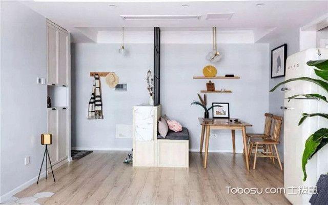 68平米宜家风格装修设计之白墙