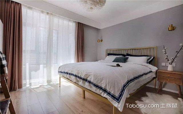 68平米宜家风格装修设计之卧室