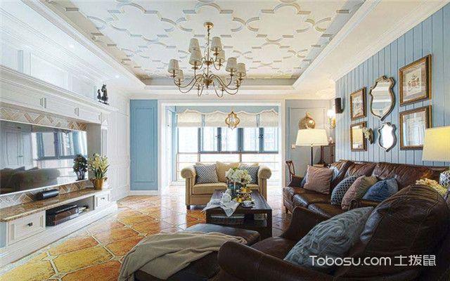四室两厅美式风格装修案例