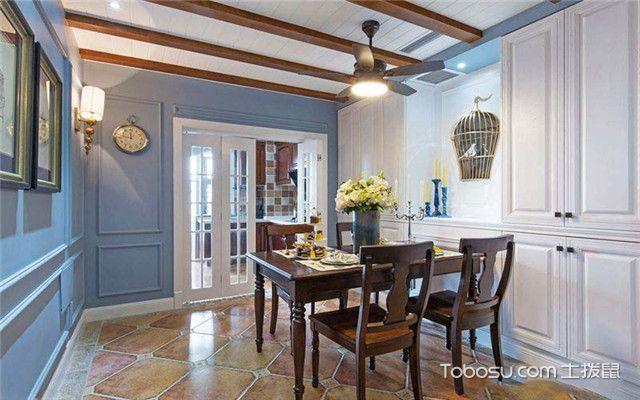 四室两厅美式风格装修案例之餐厅