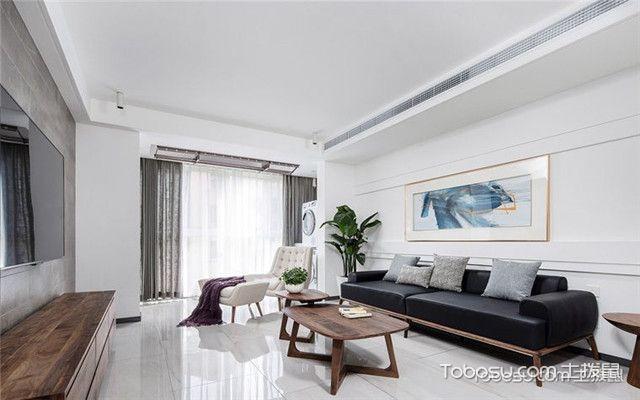 105平米简约风格装修案例之客厅