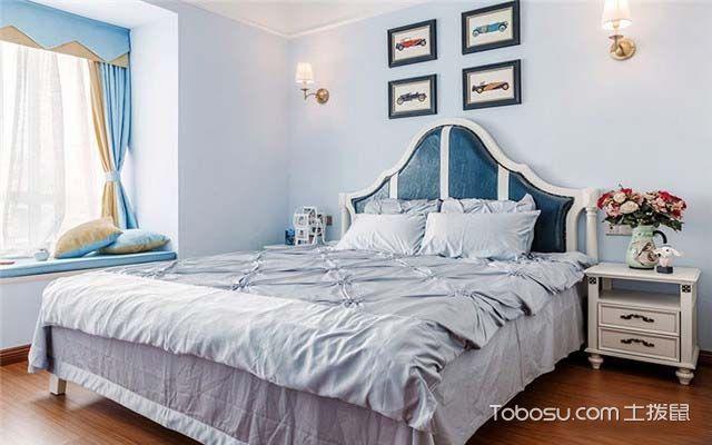 现代美式风格装修效果图之卧室